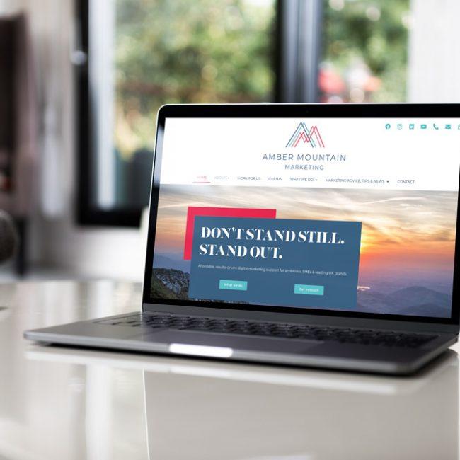 Amber Mountain Marketing rebranding